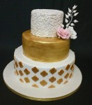 Wedding cake - Gold & White Theme