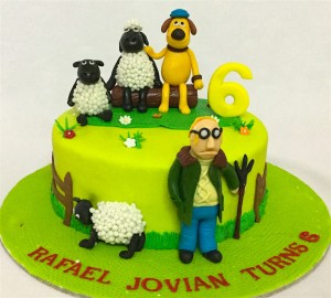 Shawn the Sheep Birthday Cake- 1  kg