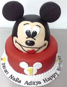 Mickey Head shape Cake 2 kg