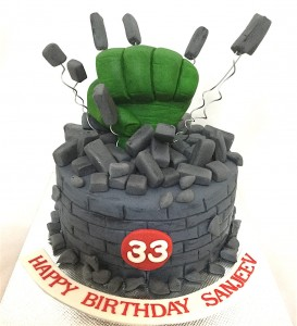 33rd Hulk Birthday Cake