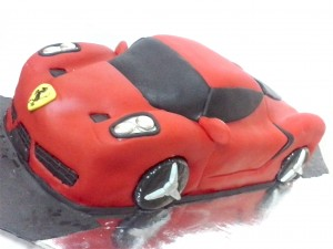 Sculpted Farrari Car Birthday Cake