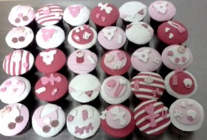 Pink Baby Shower Cup Cakes - 10 nos