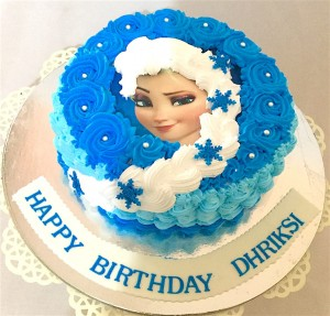 Dhriksi's  Frozen Theme Cream Cake