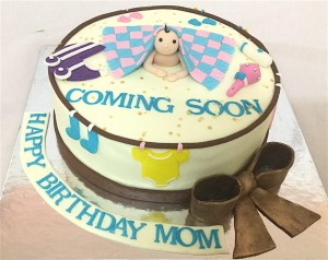 Coming Soon Baby Shower Cake