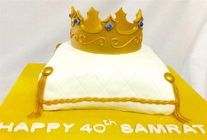 Golden Crown Birthday Cake