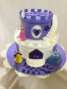 Designer Birthday Cake-Purple Castle
