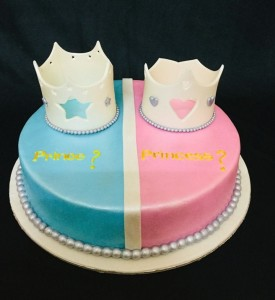 Prince or Princess Baby shower Cake