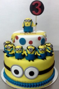 3rd Birthday Minion cake 2.5kg