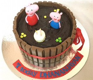 Chocolate Pit Peppa Pig Birthday Cake