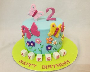 Colourful Butterflies Cake 1.5kgs