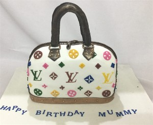LV  Designer Bag Birthday Cake