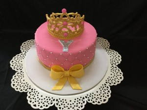 Customized Birthday Cake Tiara with Bow
