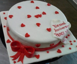 Two Hearts Anniversary Cake- 1 kg