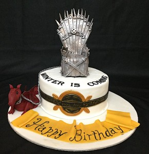 GOT Throne & Dragon Cake 1.5 kg