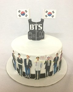 BTS Theme Birthday Cake