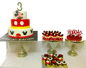 1. Dessert Table for Mickey theme Party