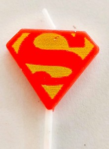 Superman Theme Candle