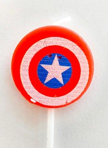 Captain America Theme Candle