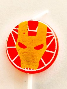 Ironman Theme Candle