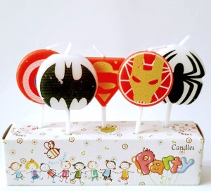 Avenger Theme Candles set of 5