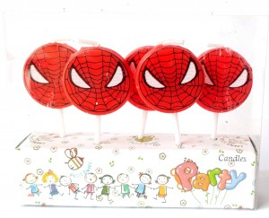 Spiderman Theme Candle Set of 5