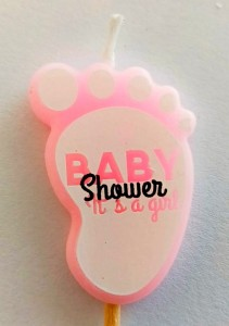 Baby Shower Girl Theme Candle
