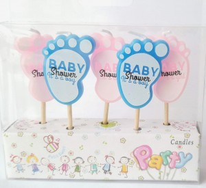 Baby Shower  Theme Candle Set of 5