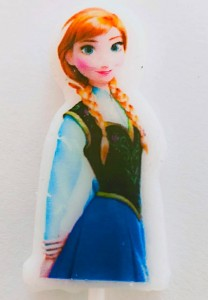 Frozen Theme Candle - Anna