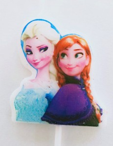 Frozen Theme Candle - Elsa & Anna