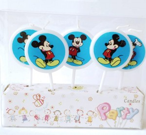 Mickey Theme Candle Set of 5