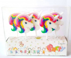 Unicorn Theme Candle Set of 5