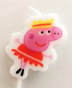 Peppa Pig Theme Candle - Princess