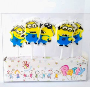 Minion Theme Candle Set of 5