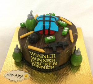 PUBG Winner Chicken Dinner Cake