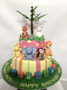 1st Birthday Animal Theme Cake