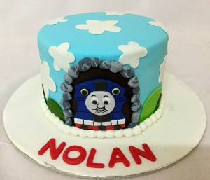 Birthday Cake Nolan- Thomas Engine theme