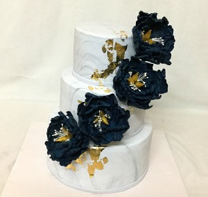 Designer Wedding cake - Marble & Gold