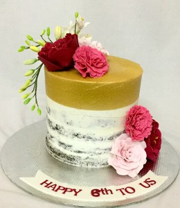 Naked Butter cream  Anniversary Cake