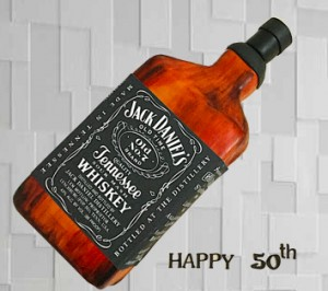 Birthday Cake for HIM- Jack Daniels Theme