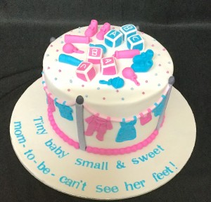 Baby Shower Cake -Tiny Baby small & Sweet