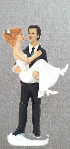 Wedding Cake Toppers - Groom Carrying Bride