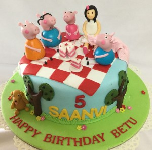 Saanvi's 5th BD Peppa Pig Cake