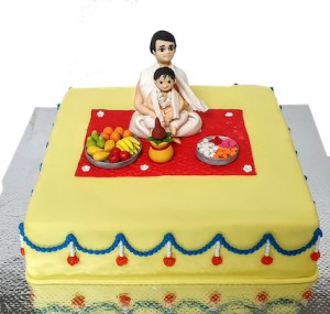 Ceremonial Pooja themed cake