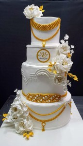 Wedding Cake 4 tier Jewelry theme cake