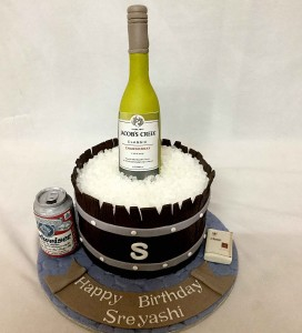 Birthday Cake Jacob's Creek wine theme