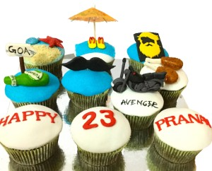 23rd Birthday Goa Theme Cupcakes- Set of 10