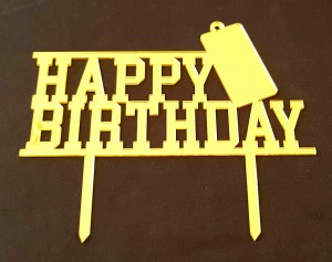 Birthday Cake Topper - HBD 002