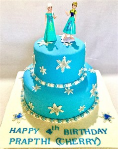 Frozen theme Prapthi's Birthday Cake