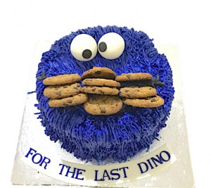 Cookie Loving Monster  Cake