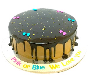 Pink or Blue Baby Shower Chocolate  cake
